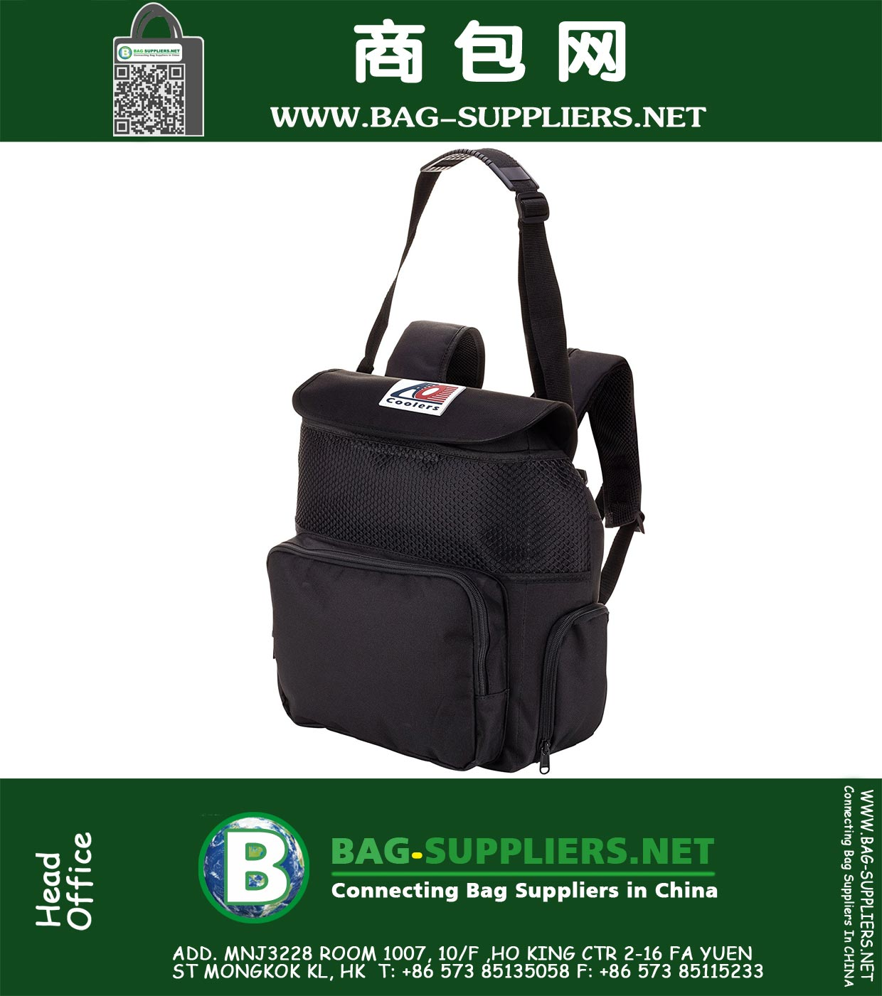 Coolers Backpack Soft Cooler with High-Density Insulation, 18-Can, ZY-TLCA0080