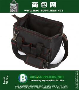 Wide Mouth Adjustable Strap Tool Totes
