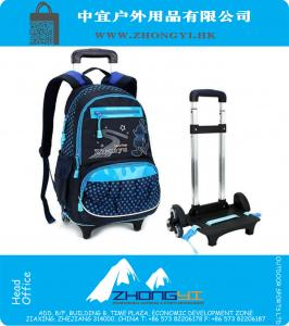 998a7d067855b 3 Räder Abnehmbare Kinder Schulrucksack Trolley-Beutel-Qualitäts-große  Kapazität Kinder Wheeled Bag