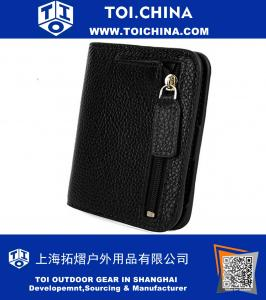 RFID Blocking Small Compact Bi-fold Leather Pocket Wallet