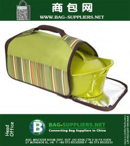 Thermal Carrier, Stripe Green
